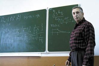 Яков Синай во время семинара