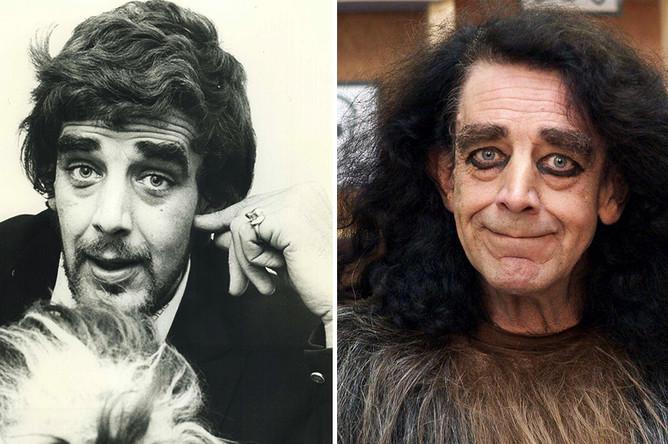 Питер Мейхью в 1977 и 2017 годах (Чубакка)