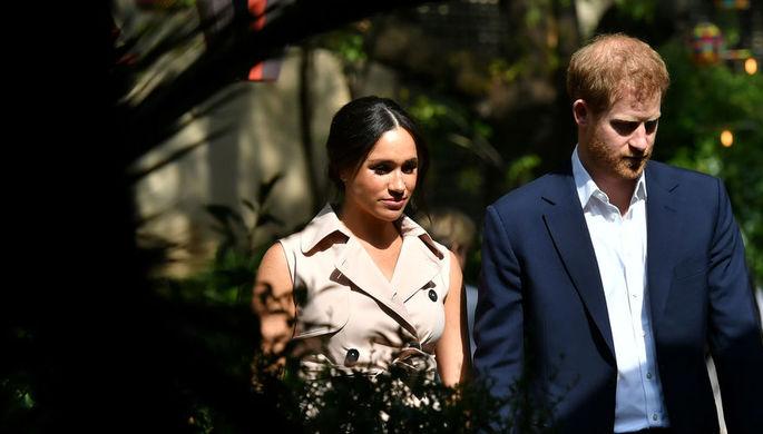 Герцогиня Сассекская Меган и принц Гарри во время визита в ЮАР, 2 октября 2019 года