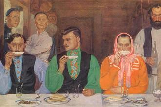А. Рябушкин. Чаепитие. 1903