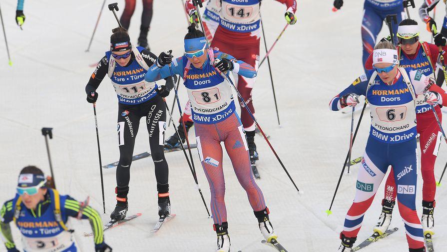Татьяна Акимова (в центре) единственная из россиянок добилась права выступить в масс-старте
