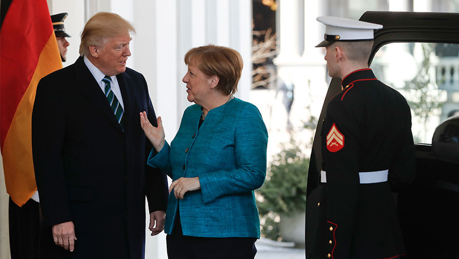 Президент США Дональд Трамп и канцлер Германии Ангела Меркель в Вашингтоне, 17 марта 2017 года