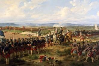 Французская и британская гвардия в сражении при Фонтенуа в 1745 году