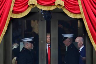 Дональд Трамп перед церемонией инаугурации в Вашингтоне, 20 января 2017 года