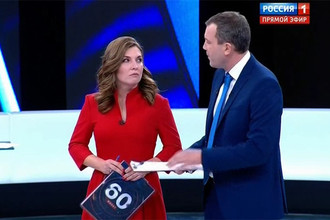 Ольга Скабеева и Евгений Попов (программа «60 минут»)