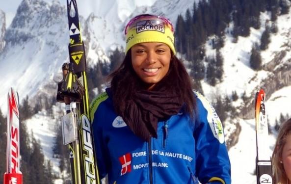 Тоголезская лыжница Матильда-Амиви Петижан