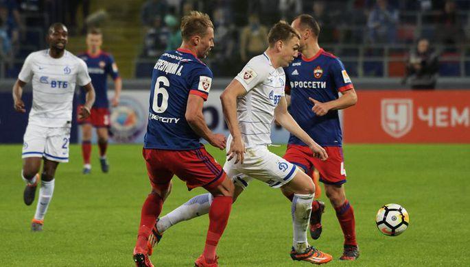 ЦСКА играет с «Динамо»