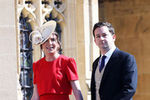 Ребекка Дикон и Адам Пристли насвадьбе принца Гарри и Меган Маркл вВиндзоре, 19 мая 2018 года