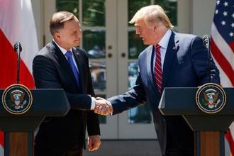 Президент Польши Анджей Дуда и президент США Дональд Трамп во время встречи в Белом доме, 12 июня 2019 года