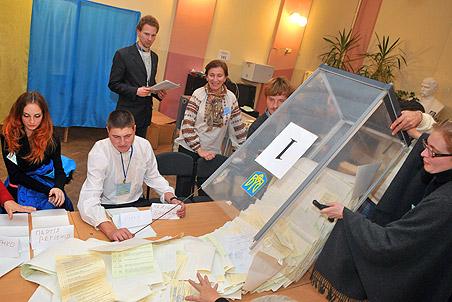 На парламентских выборах на Украине победила «Партия регионов» Януковича