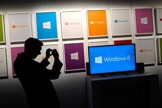 Microsoft сократила продажи лицензий на операционную систему Windows 8