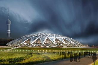 <b>«Cosmos Arena»</b> (рабочее название) (Самара) строится, должен быть готов к 2017 году. Стоимость постройки должна была составить 13,159 млрд руб., но будет несколько увеличена. Вместимость составит почти 45 тыс. человек. Станет домашним стадионом ФК «Крылья Советов»