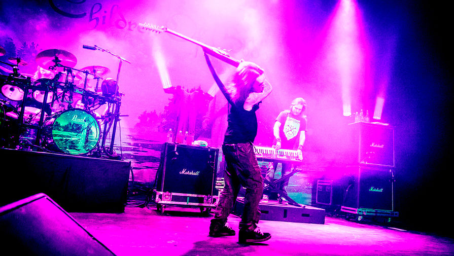 Участники группы Children Of Bodom во время выступления в Торонто, 2014 год