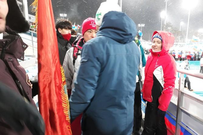 У российского болельщика на Олимпиаде-2018 отобрали флаг с Лениным