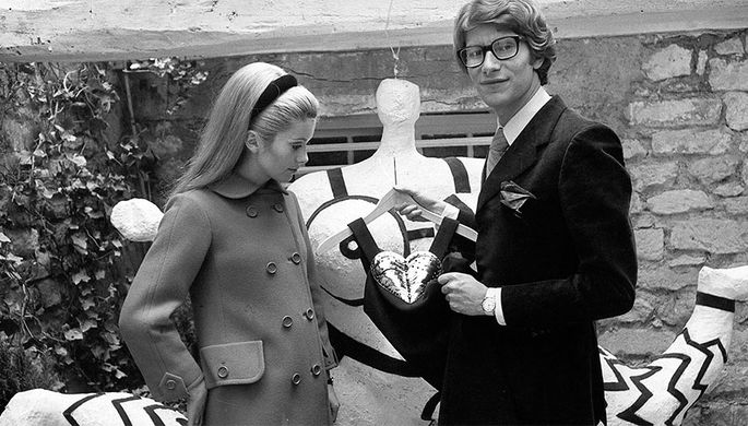 Катрин Денев и Ив Сен-Лоран, 1966 год