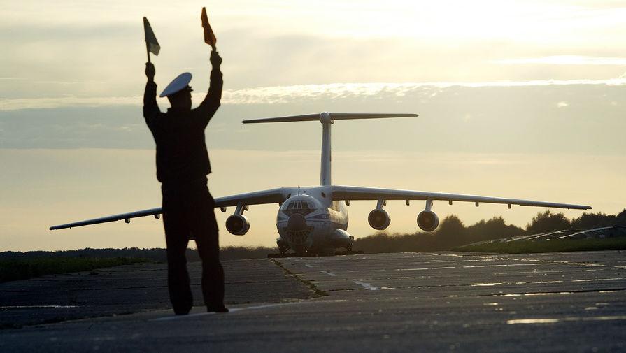Самолет Ил-76 с гуманитарным грузом для Южной Осетии, 2008 год