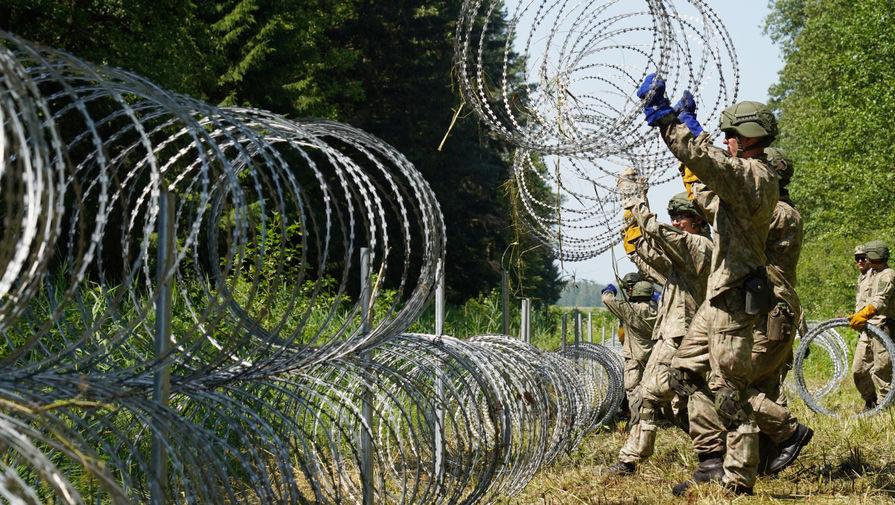 В Литве началось строительство забора на границе с Белоруссией
