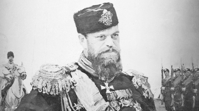 Репродукция портрета императора Александра III Художник В. Серов, 1900 год