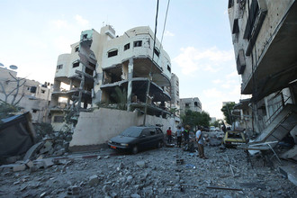 Последствия авиаударов по сектору Газа