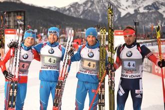 Золотая мужская эстафетная четверка сборной России