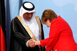 Король Саудовской Аравии Салман ибн Абдул-Азиз Аль Сауд и канцлер Германии Ангела Меркель