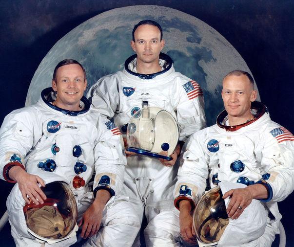 Нил Армстронг, Майкл Коллинз и Базз Олдрин, 1969 год