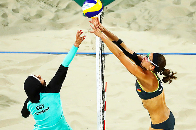 Волейбольный матч между Египтом и Германией