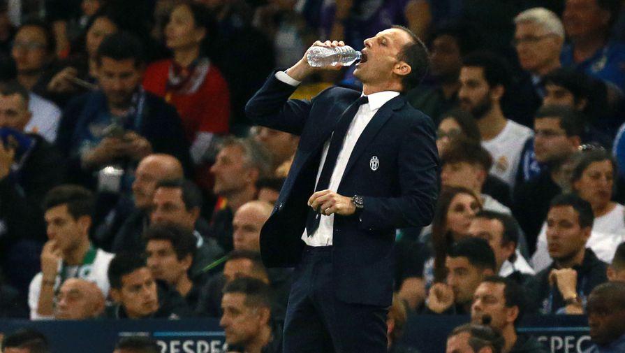 Главный тренер «Ювентуса» Массимилиано Аллегри в финальном матче Лиги чемпионов с «Реалом»