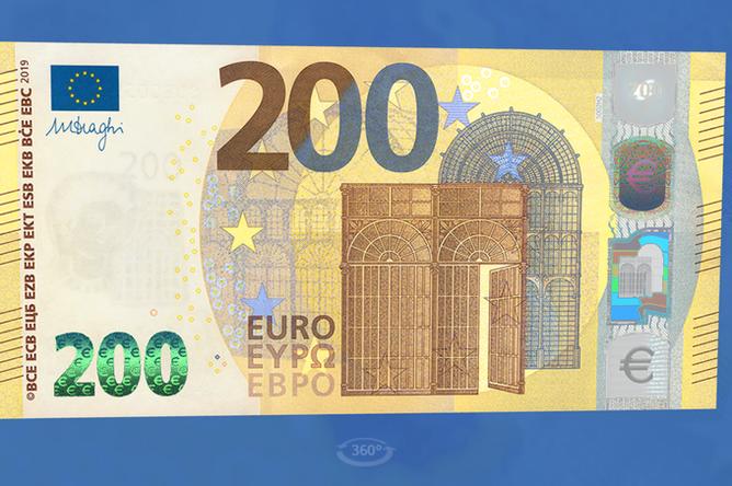 Новые банкнота в размере €200