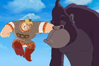 Кадр из мультипликационного фильма » Три богатыря на дальних берегах»