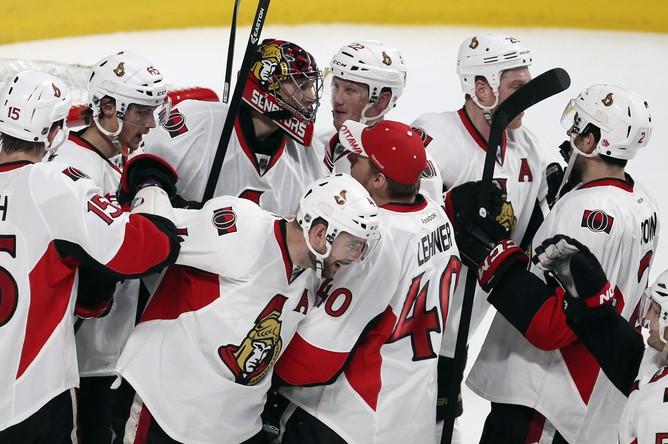 Хоккеисты «Оттавы» рады победе над «Монреалем»