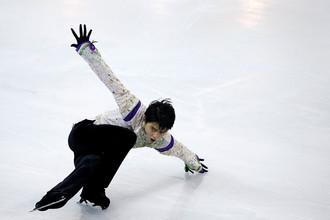 Японец Юдзуру Ханю во время произвольной программы