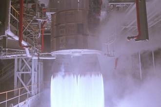 Двигатель РД-180 в составе первой ступени ракеты Atlas-V