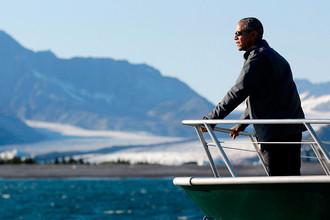 Президент США Барак Обама во время прогулки по Национальному парку Кенай-Фьордс на Аляске