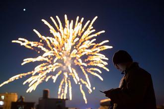 Фейерверк в канун китайского Нового года, Китай
