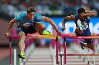 Россиянин Шубенков в полуфинальном забеге на 110 м с барьерами