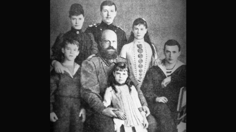 Репродукция фотографии Императора Александра III с семьей