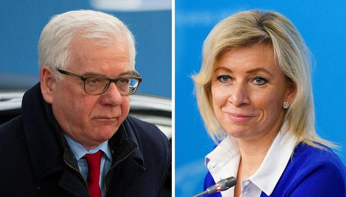 Глава МИД Польши Яцек Чапутович и Мария Захарова (коллаж)