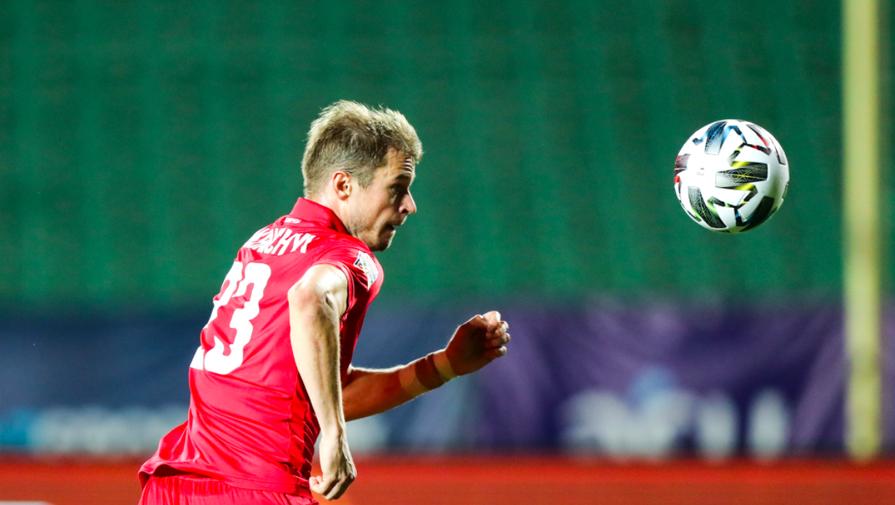 Игрок сборной Белоруссии по футболу