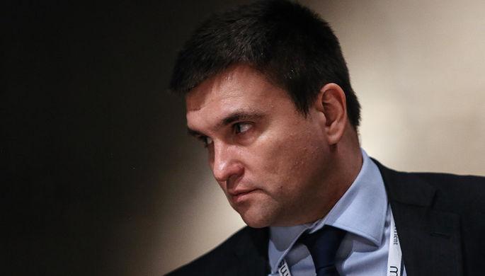 Министр иностранных дел Украины Павел Климкин во время встречи «нормандской четверки» в...