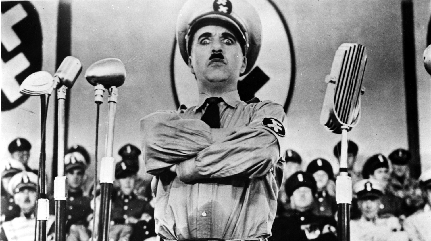 hitlerthe great dictator Director: charles chaplin starring: charles chaplin, paulette goddard, hans conried and others.