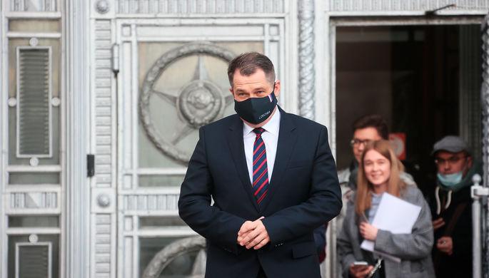 Посол Чехии в России Витезслав Пивонька возле здания МИД России в Москве, 22 апреля 2021 года
