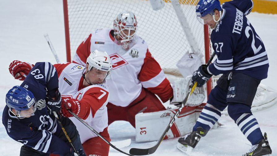 Матч «Динамо» — «Спартак» в последний день регулярного чемпионата КХЛ вышел жарким и важным