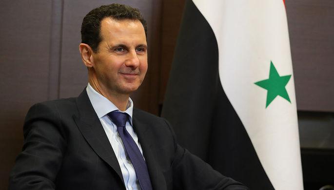 Президент Сирийской арабской республики Башар Асад во время встречи с президентом России Владимиром...