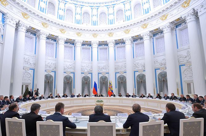 На встрече президента Владимира Путина с представителями крупного бизнеса в Кремле