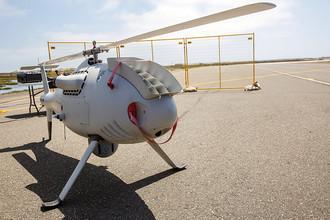 Многоцелевой беспилотный вертолет Camcopter S-100 на военно-морской базе Вентура-Каунти в США