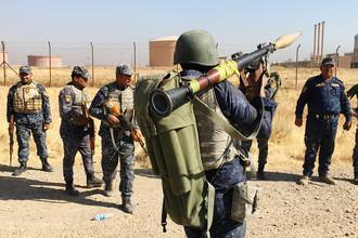 Федеральные войска Ирака около нефтяных месторождений в Киркуке, 16 октября 2017 года