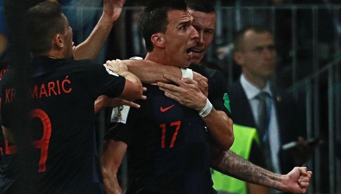 Во время полуфинального матча чемпионата мира по футболу между сборными Хорватии и Англии, 11 июля 2018 года
