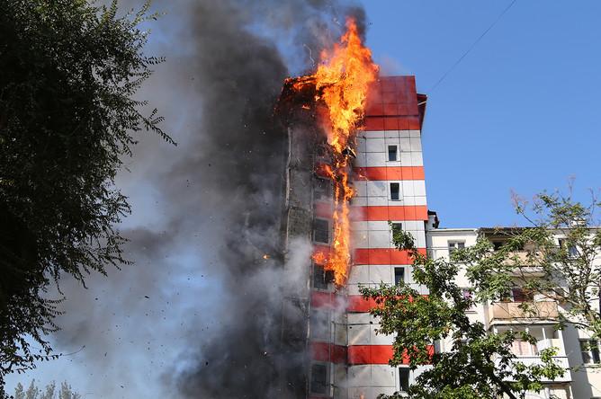 Пожар в десятиэтажном здании в центре Ростова-на-Дону, 21 сентября 2017 года