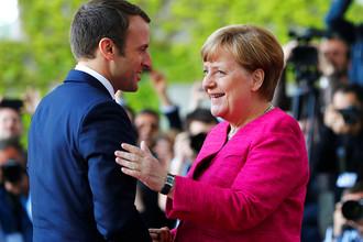 Канцлер ФРГ Ангела Меркель и президент Франции Эммануэль Макрон